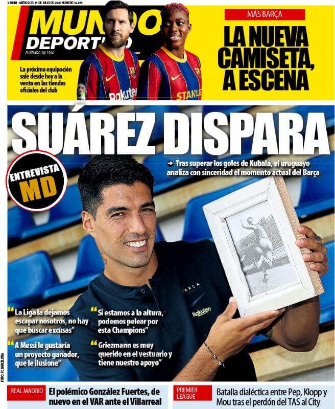 Portadas Diarios Deportivos Miércoles 15/07/2020