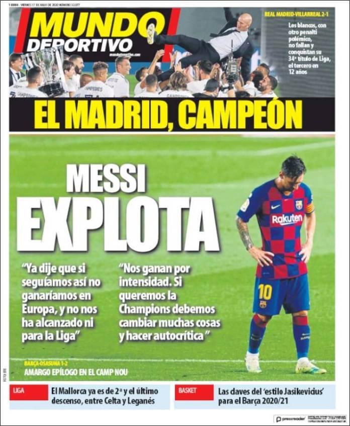 Portadas Diarios Deportivos Viernes 17/07/2020