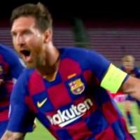Golazo de Messi para el 2-0 sobre el Napoli