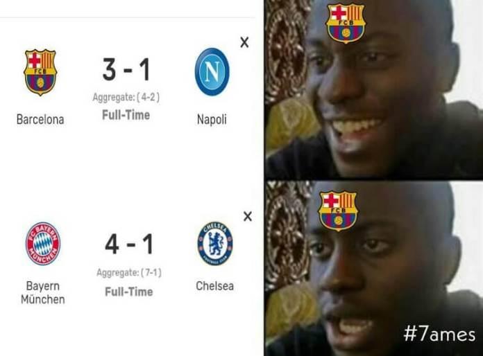 Memes Barcelona-Napoli Octavos Champions 2020