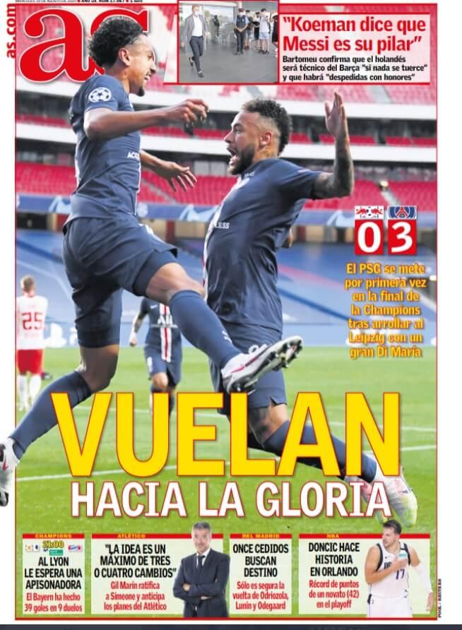 Portadas Diarios Deportivos Miércoles 19/08/2020