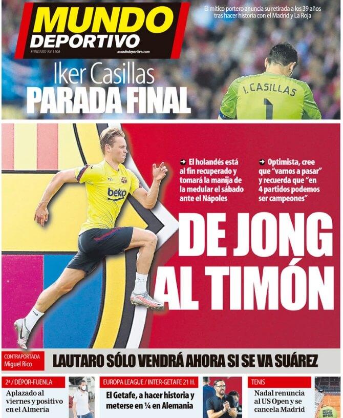 Portadas Diarios Deportivos Miércoles 5/08/2020