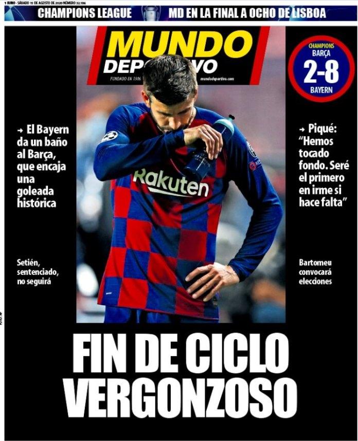 Portadas Diarios Deportivos Sábado 15/08/2020