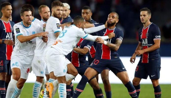 Escándalo en el PSG-Marsella con 5 expulsados