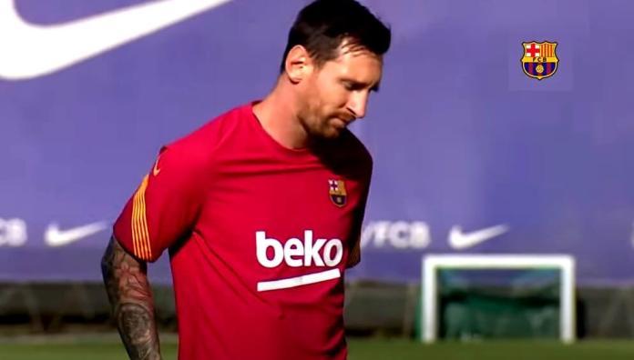 Así fue el regreso de Messi a los entrenamientos