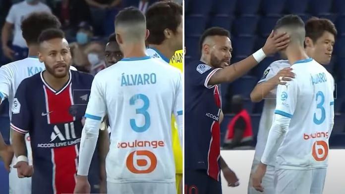 La escena completa de la batalla entre Neymar y Álvaro