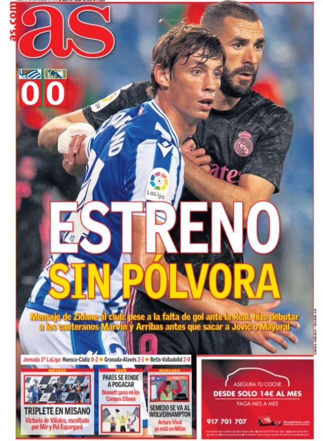 Portadas Diarios Deportivos Lunes 21/09/2020