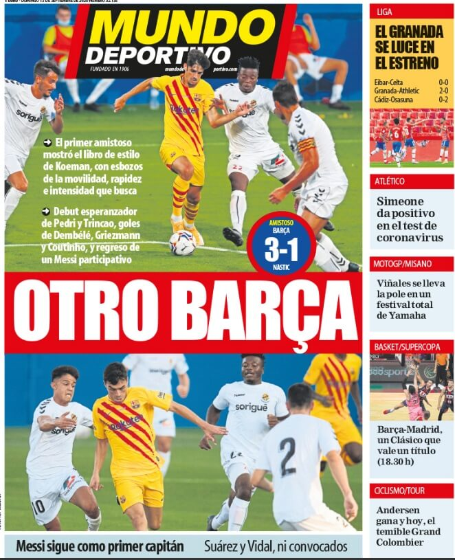 Portadas Diarios Deportivos Domingo 13/09/2020