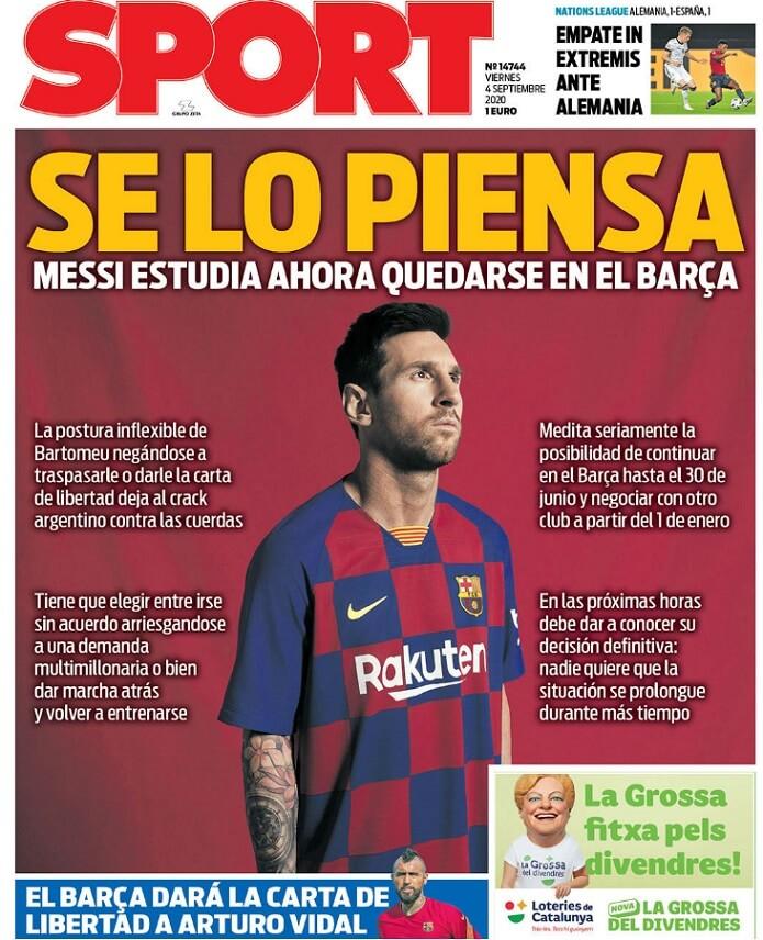 Portadas Diarios Deportivos Viernes 4/09/2020