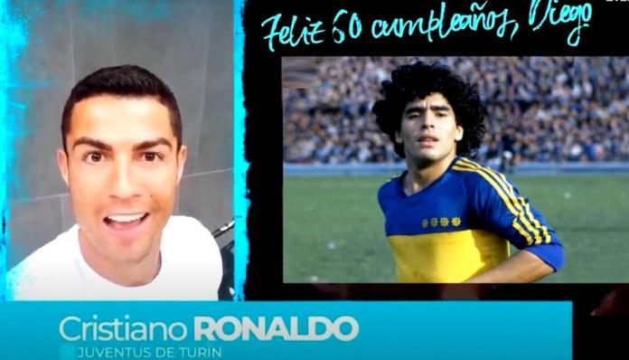 Cristiano saluda a Maradona por su Cumpleaños