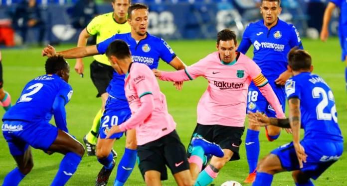 Naufragio del Barça ante el Getafe