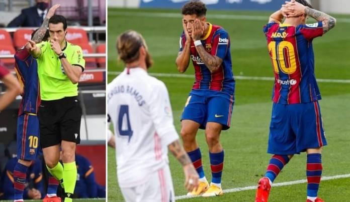 El Barcelonismo indignado por el arbitraje del Clásico