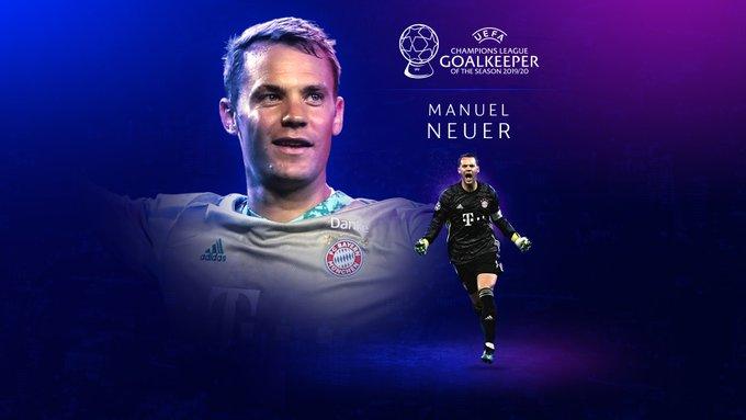 Manuel Neuer Premio mejor portero Champions 2019-2020