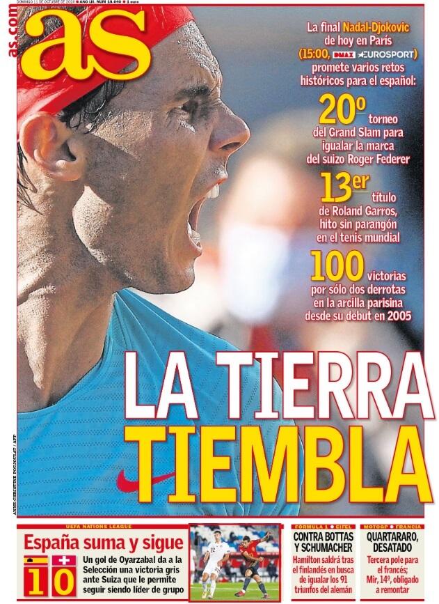 Portadas Diarios Deportivos Domingo 11/10/2020