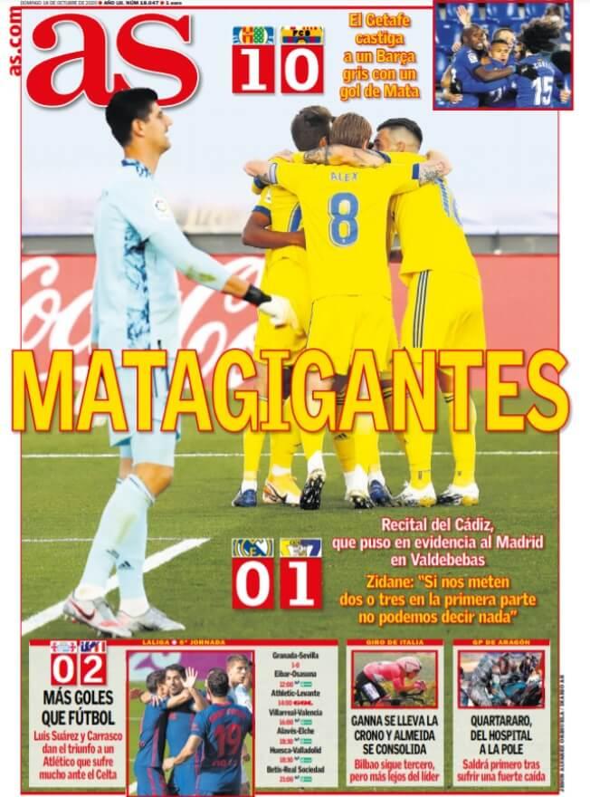 Portadas Diarios Deportivos Domingo 18/10/2020
