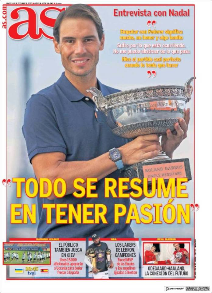 Portadas Diarios Deportivos Martes 13/10/2020