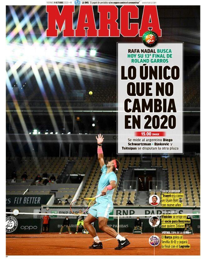 Portadas Diarios Deportivos Viernes 9/10/2020