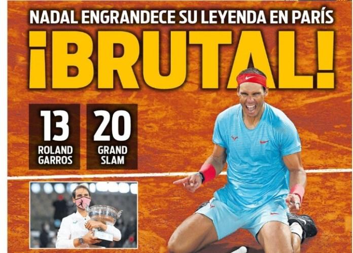 Portadas Diarios Deportivos Lunes 12/10/2020