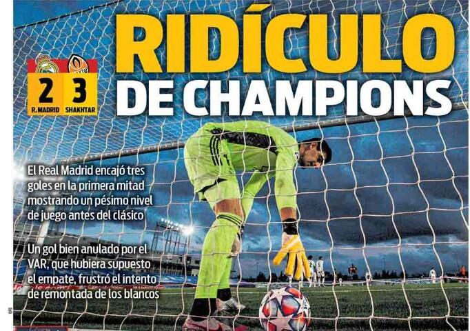 Portadas Diarios Deportivos Jueves 22/10/2020