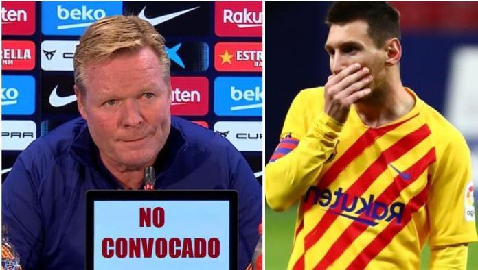 Messi no es convocado por Koeman para la Champions