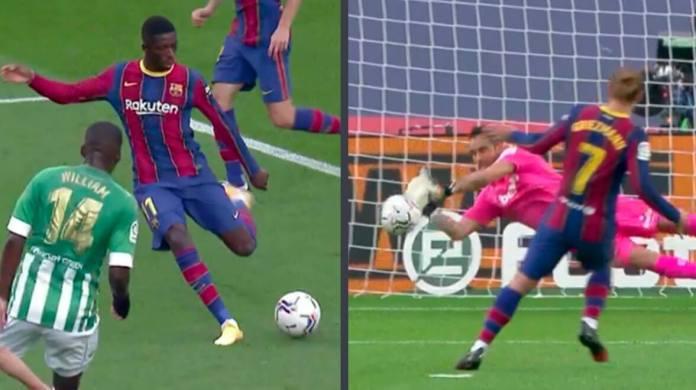 Golazo de Dembélé y Griezmann falla un penalti
