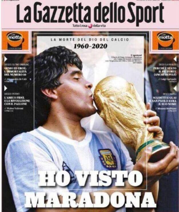 La Prensa Mundial despide a Diego Armando Maradona portadas intenacionales