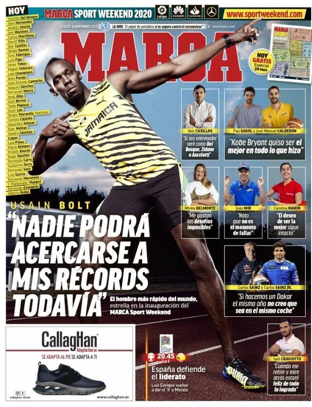 Portadas Diarios Deportivos Sábado 14/11/2020