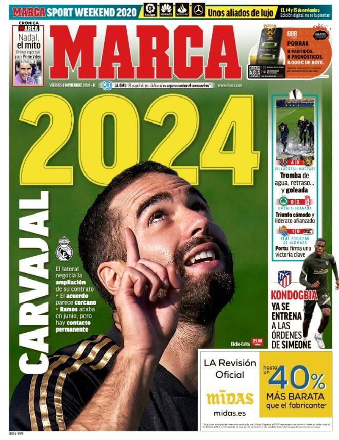 Portadas Diarios Deportivos Viernes 6/11/2020