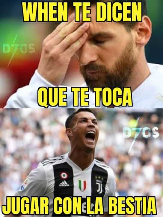Memes Barcelona-Juventus Champions 2020