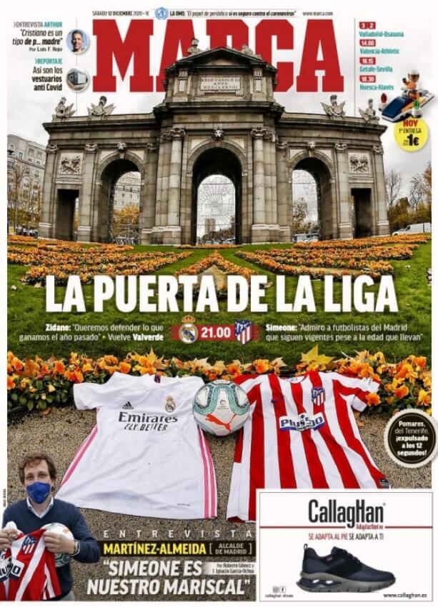 Portadas Diarios Deportivos Sábado 12/12/2020