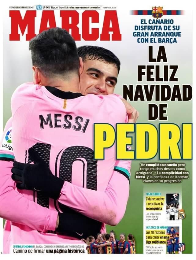 Portadas Diarios Deportivos Viernes 25/12/2020