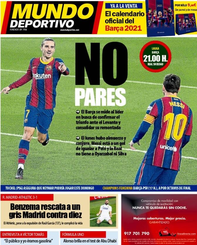 Portadas Diarios Deportivos Miércoles 16/12/2020