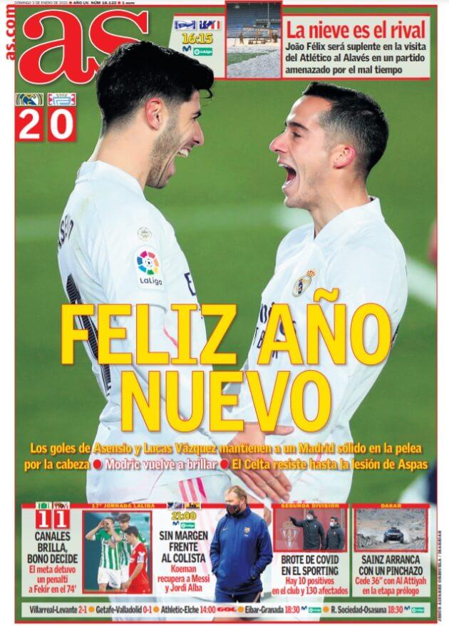 Portadas Diarios Deportivos Domingo 3/1/2021