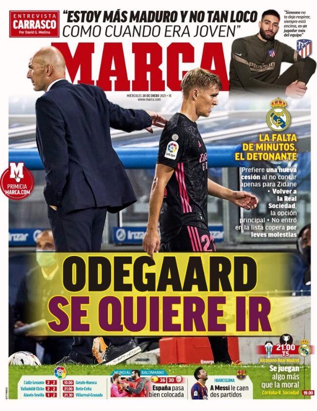 Portadas Diarios Deportivos Miércoles 20/1/2021