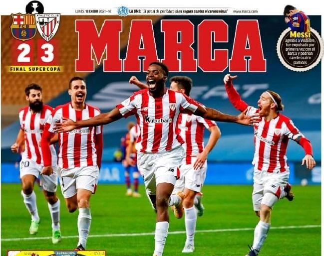 Portadas Diarios Deportivos Lunes 18/1/2021