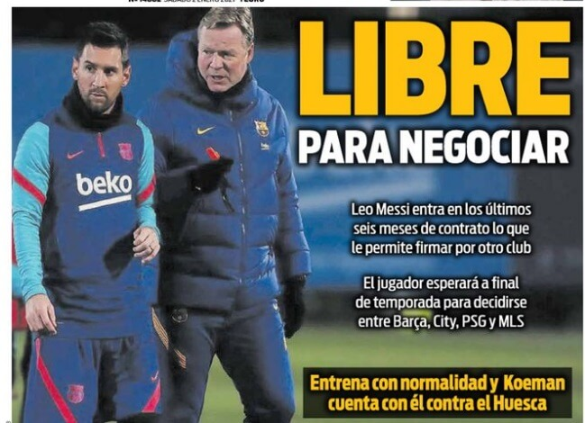 Portadas Diarios Deportivos Sábado 2/1/2021