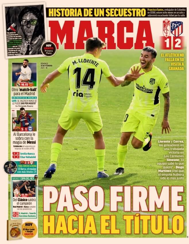 Portadas Diarios Deportivos Domingo 14/2/2021