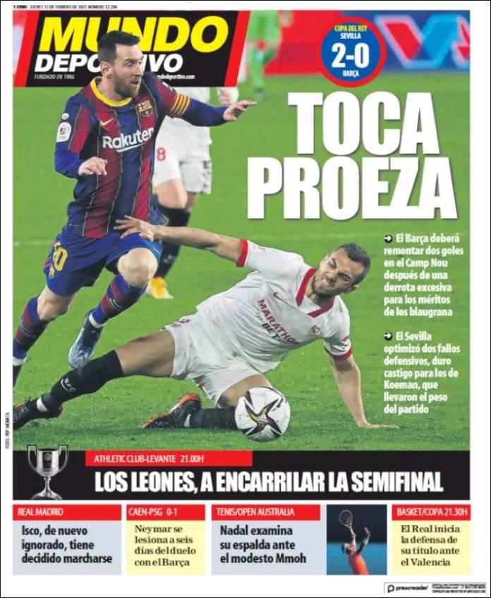 Portadas Diarios Deportivos Jueves 11/2/2021