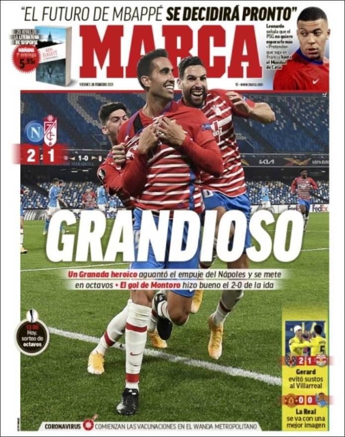 Portadas Diarios Deportivos Viernes 26/2/2021