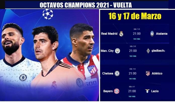 Octavos Champions League 2021