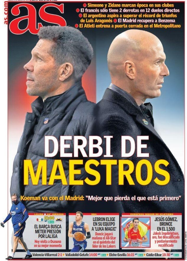Portadas Diarios Deportivos Sábado 6/3/2021