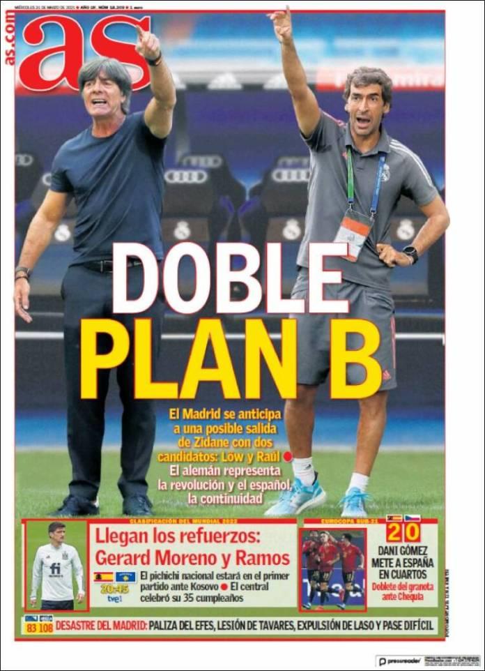 Portadas Diarios Deportivos Miércoles 31/3/2021