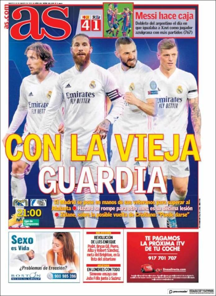 Portadas Diarios Deportivos Martes 16/3/2021