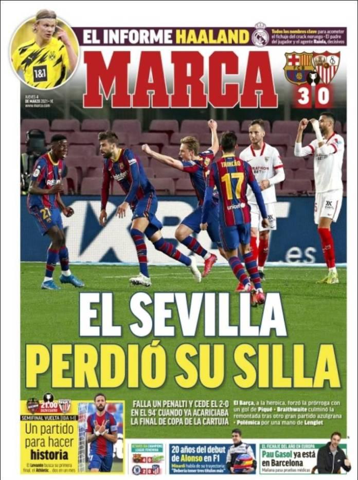 Portadas Diarios Deportivos Jueves 4/3/2021