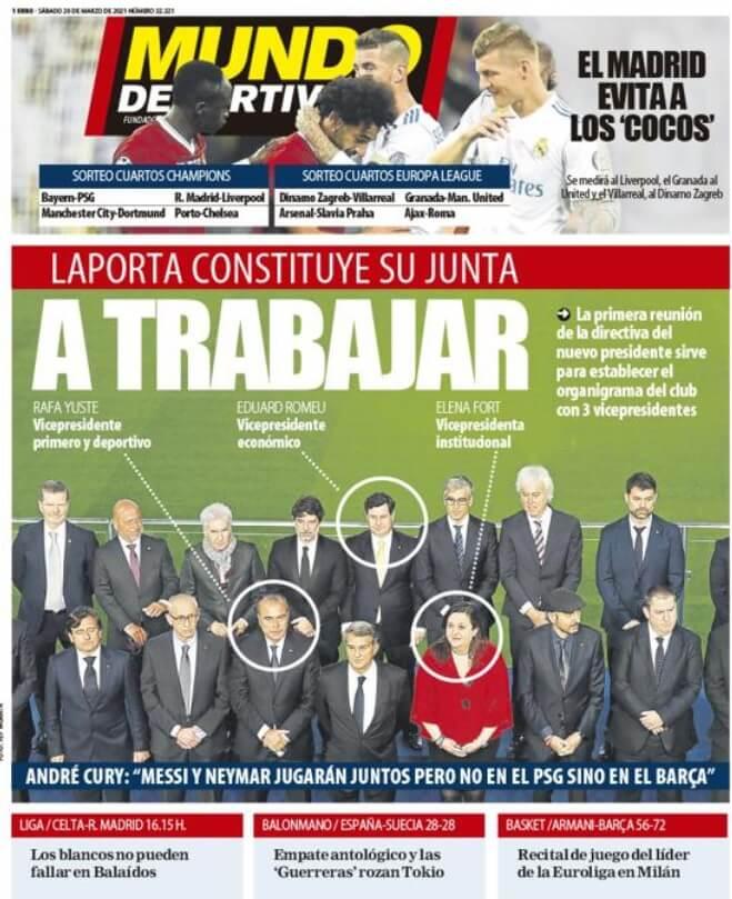 Portadas Diarios Deportivos Sábado 20/3/2021