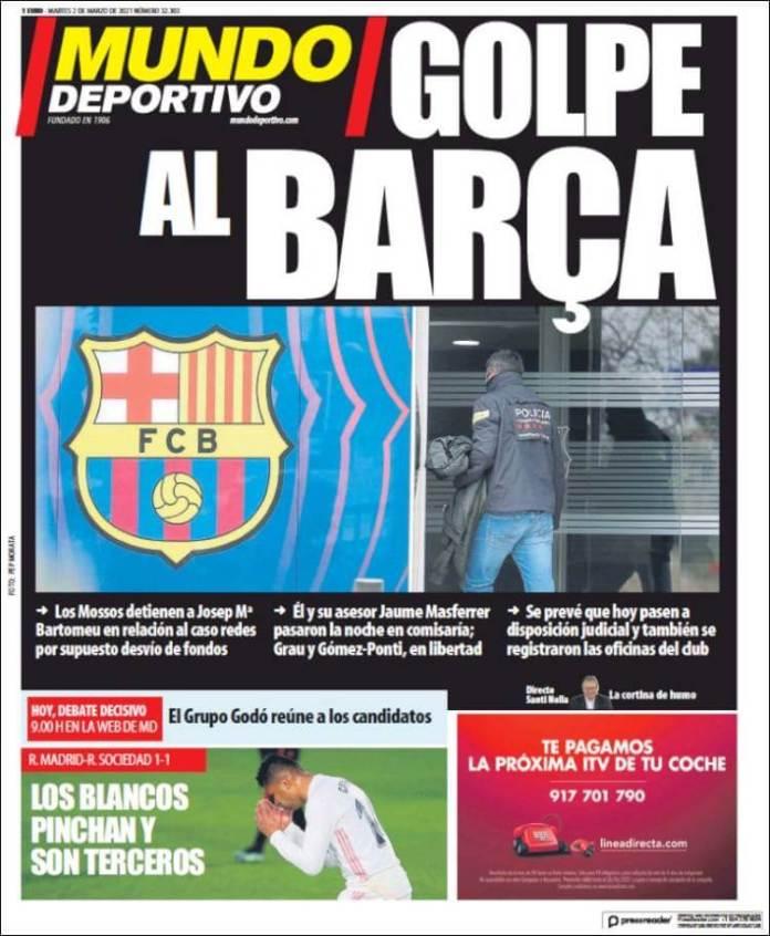 Portadas Diarios Deportivos Martes 2/3/2021