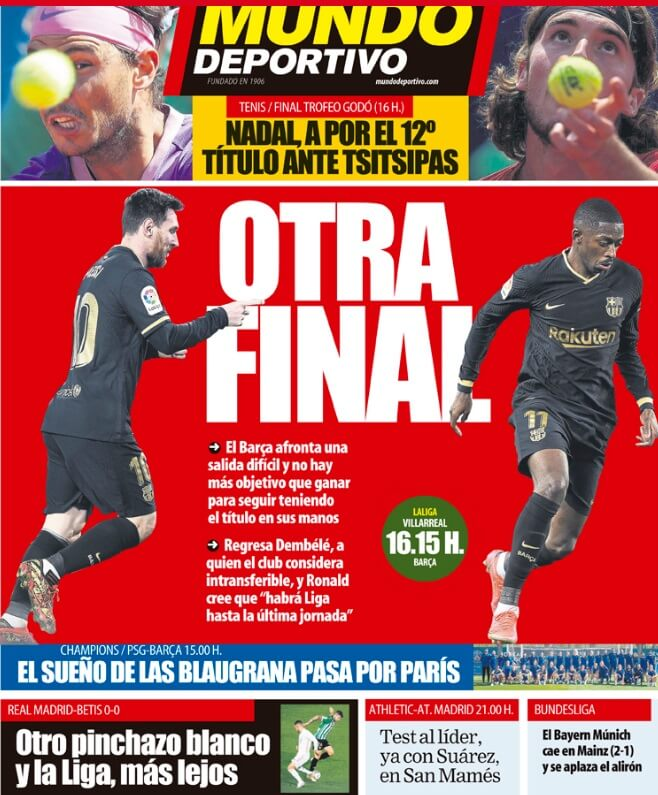 Portadas Diarios Deportivos Domingo 25/4/2021