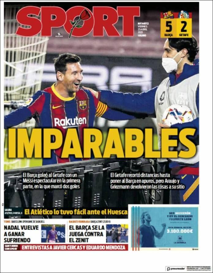 Portadas Diarios Deportivos Viernes 23/4/2021