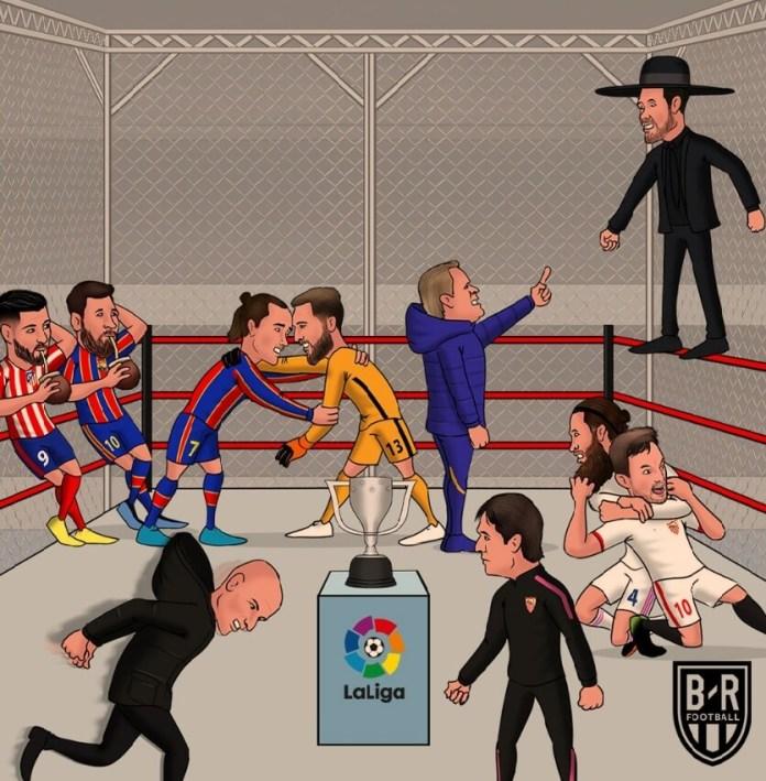 Memes Barcelona-Atlético Madrid 2021