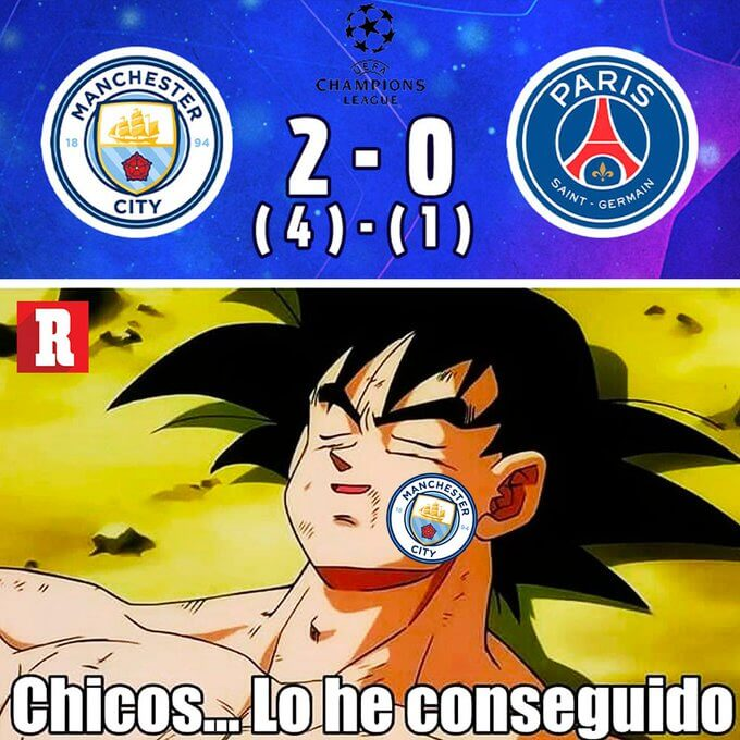 Memes Manchester City-PSG Champions 202